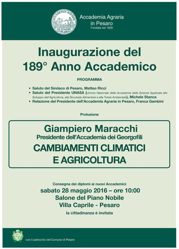 Accademia Agraria di Pesaro - Inaugurazione 189 Anno Accademico