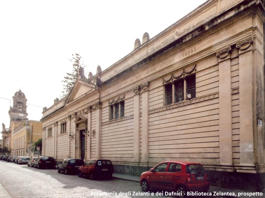 Biblioteca Zelantea, prospetto