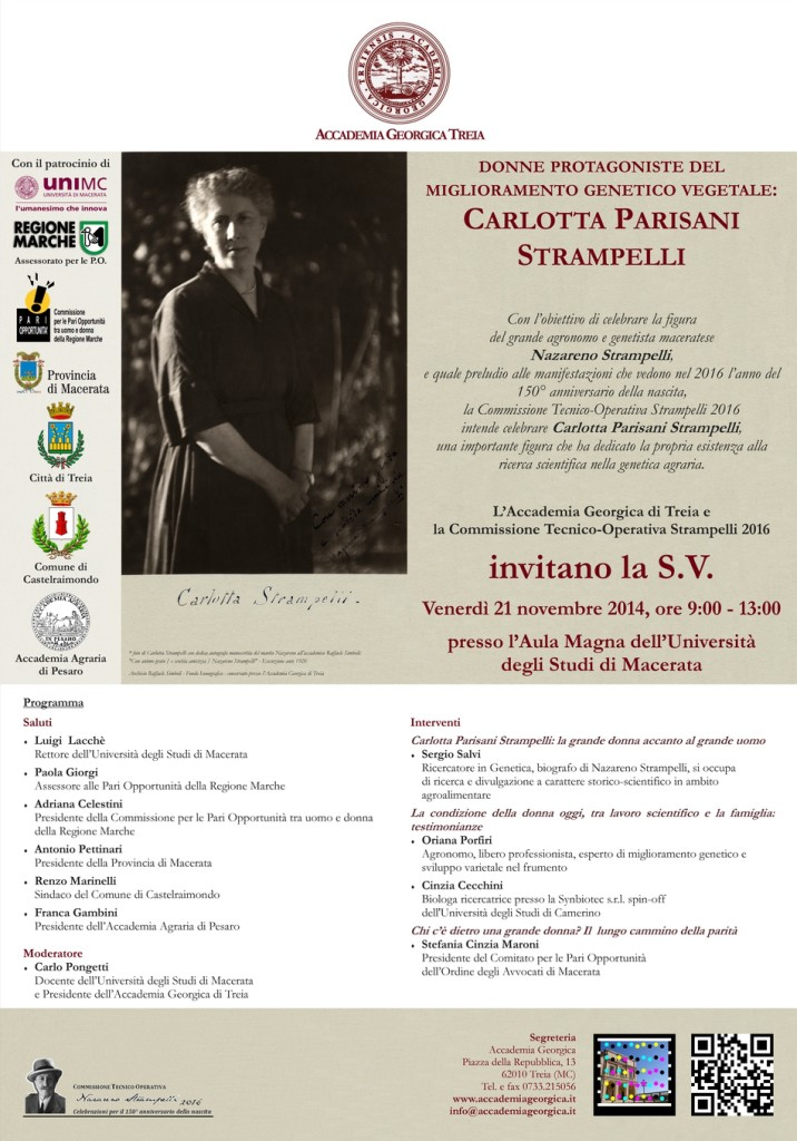 Invito evento Carlotta Strampelli - locandina