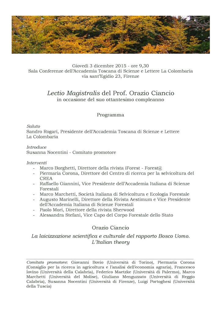 Lectio magistralis Ciancio