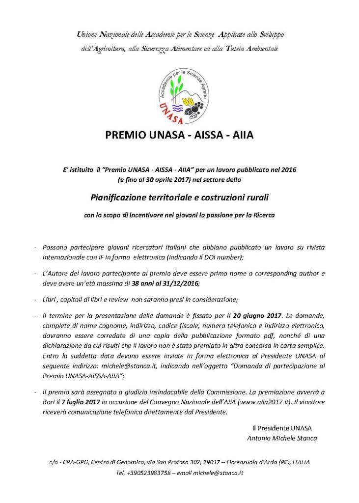 Premio UNASA-AISSA-AIIA